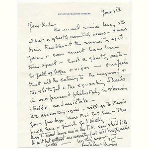 Autograph letter signed: HEPBURN Katharine