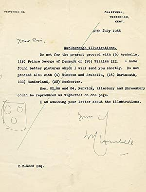 Archive relating to Marlborough: CHURCHILL Winston