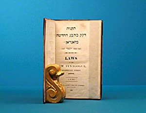 Laws of the New Synagogue: SOLOMON Abraham