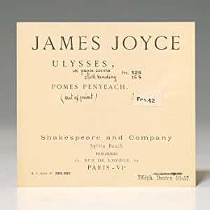 Printer's advertisement for Ulysses: JOYCE James BEACH