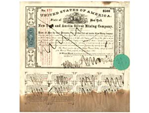 Stock Certificate of the New York and Austin Silver Mining Company - No. 172: NEVADA MINING
