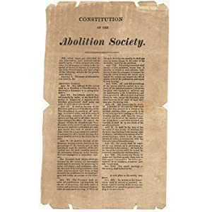Constitution of the Abolition Society: SLAVERY