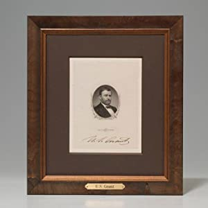 Engraved portrait signed: GRANT Ulysses S.