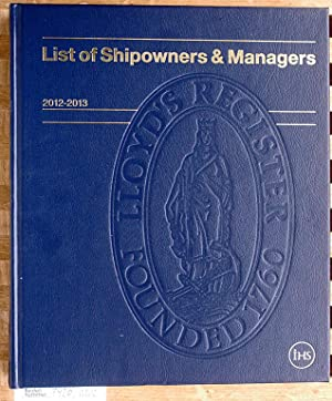 List of Shipowners & Managers 2012 -