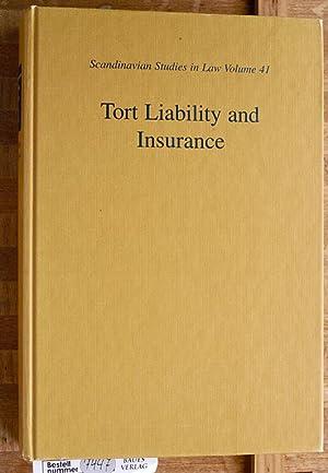 Tort Liability and Insurance Scandinavian Studies in: Wahlgren, Peter.