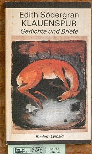 9783379005821 Klauenspur Gedichte Und Briefe Zvab