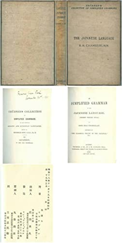 A Simplified Grammar of the Japanese Language (Modern Written Style) by Basil Hall Chamberlain Au...