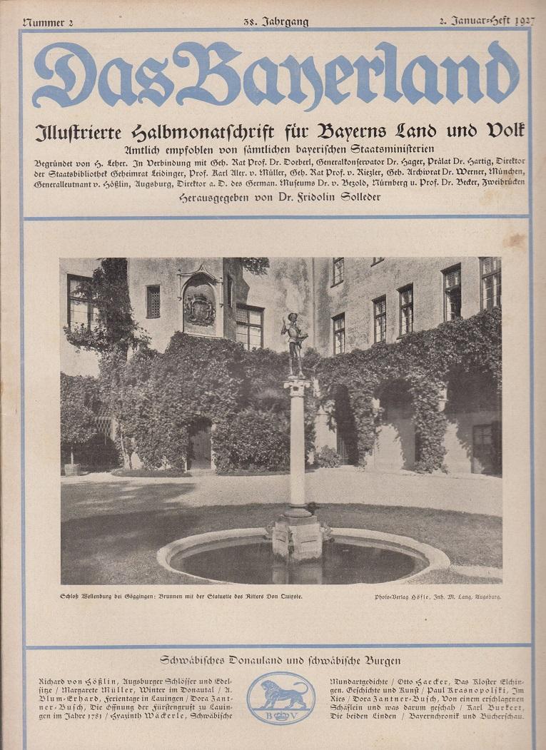 Illustrierte Halbmonatschrift Für Bayerns Land Und Volk Das Bayerland 53528 100% Garantie