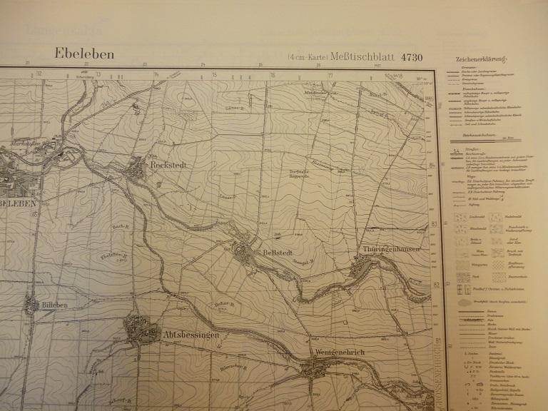 Meßtischblatt Nr. 4730 - Ebeleben - Topographische: Reichsamt für Landesaufnahme
