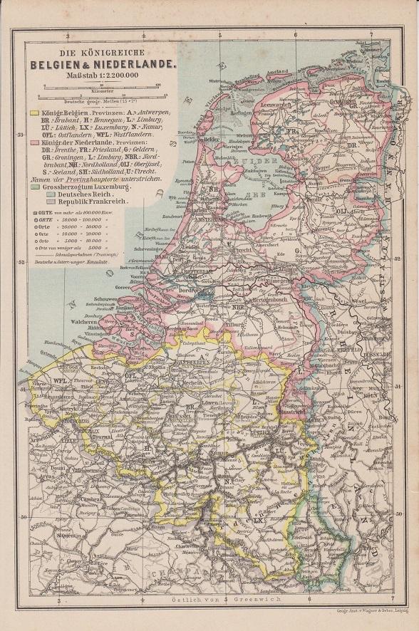 Karte Von Holland Und Belgien.Holland Politische Karte Die Konigreiche