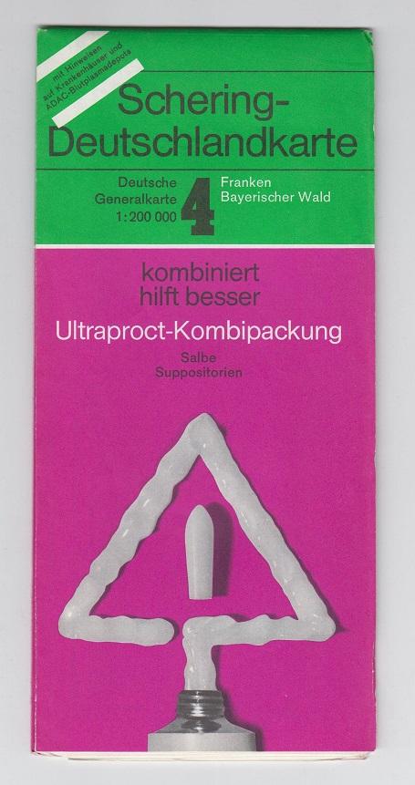 Schering Deutschlandkarte Nummer 4 Franken Bayerischer Wald