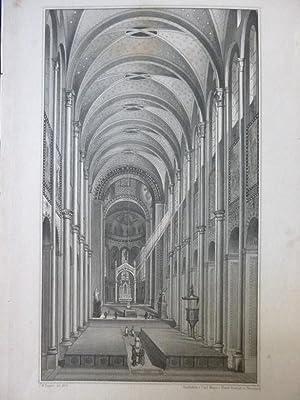 Innere Ansicht des Doms zu Speier Orig Stahlstich Rhein Pfalz J.M Bayrer Stahlstich v. Carl Meyer ...