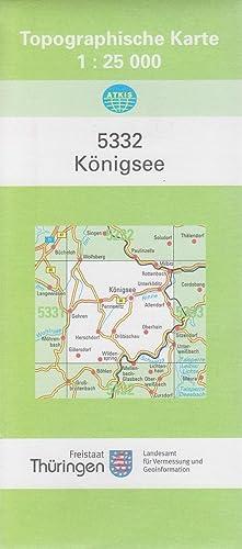 Topographische Karte Thüringen.Topographische Karte 1 25000 Nr 5332