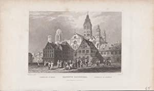 Mayence Mainz Cathedral Orig Stahlstich Rheinland- Pfalz W. Tombleson del. & J. Carter sc.
