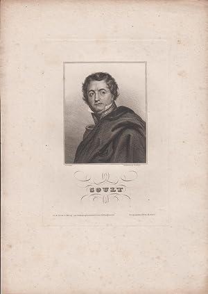 orig. Stahlstich Portrait Soult Gerard gem. - Stahlstich von Nordheim