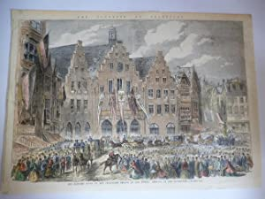 Orig. Stahlstich - Hessen: The Congress at Frankfort - The Banquet given by the Frankfort Senate ...