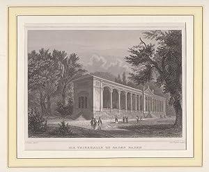 Orig. Stahlstich - Baden-Baden: Die Trinkhalle zu Baden-Baden.: Höfle (Zeichnung), R. und J. Poppel...