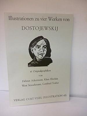 Illustrationen zu vier Werken von Dostojewskij Mappe mit 16 Originalgraphiken: Ackermann, Helmut, ...
