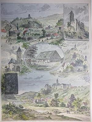 Holzstich Bayern Oberpfalz Paffenhofen - Aus der Oberpfalz. Nach Natur gezeichnet von F. Crost.