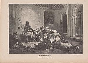 Orig. Holzstich Götter Orakel Kult - Ein Marabut in Verzückung. Nach einem Gemälde von du Rouy.