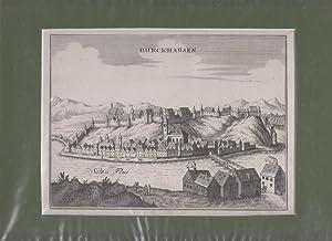 Orig. Kupferstich. Burckhausen