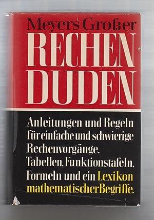Meyers Großer Rechenduden.: Dudenredaktion