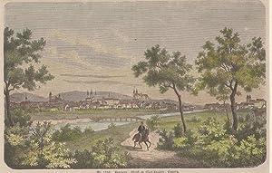 Orig. kolorierter Holzstich - Bayern - Bamberg, Stadt in Oberfranken, Bayern.