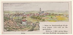 Orig. kolorierter Holzstich - Bayern - Volkach