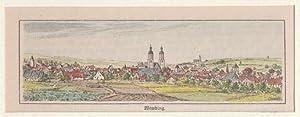 Orig. kolorierter Holzstich - Bayern - Wemding