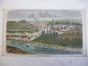 Orig. kolorierter Holzstich - Kreuznach.