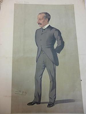 """Orig. Lithographie - Vanity Fair """" Imperialist Afrikander """" Offizier gezeichnet v. Spy,"""