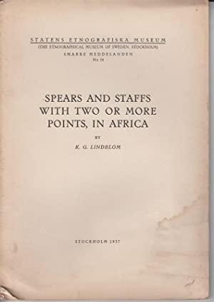 Spears and staffs with two or more: Lindblom, K. G.