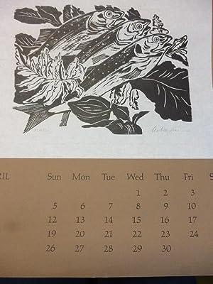 Ackermann Helmut Original Linolschnitt handsigniert Original-Grafik Ziege