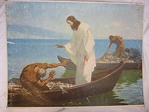 Schulwandbild Lehrtafel Ravensburg: Der reiche Fischfang. Ars Sacra.