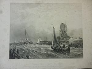Orig. Stahlstich: The Scheldt, Texel Island. Holland Netherland From the Picture in the Vernon Ga...
