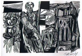 Hans Orlowski: Holzschnitte und Zeichnungen. Nov./Dez. 1989.: Orlowski, Hans: