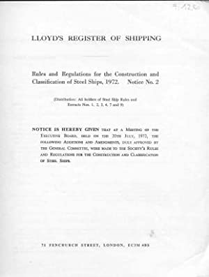 LLoyd's Register of Shipping - Rules and: Diverse