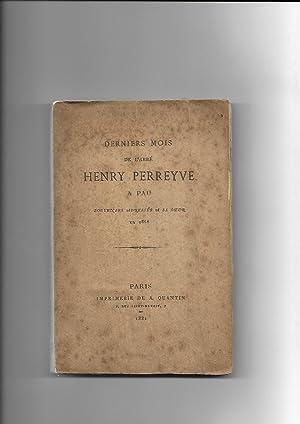 Derniers mois de l'abbé Henry Perreyve Pau