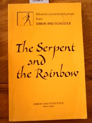 The Serpent and the Rainbow. SIGNED ARC: Davis, Wade