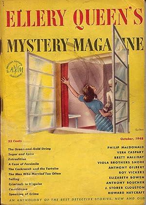 Ellery Queen's Mystery Magazine Vol. 12 No. 59 Oct. 1948: Queen, Ellery (Frederic Dannay & ...