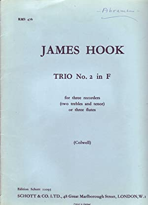 TRIO NO. 2 IN F For Thee: Hook, James