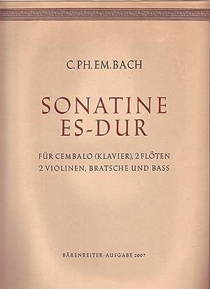 Sonatine Es-dur fur Cembalo (Klavier), 2 Floten, 2 Violinen, Bratsche und Bass (1766) (score and ...