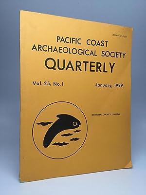 PACIFIC COAST ARCHAEOLOGICAL SOCIETY QUARTERLY: Vol. 25,: Knight, Lavinia C.