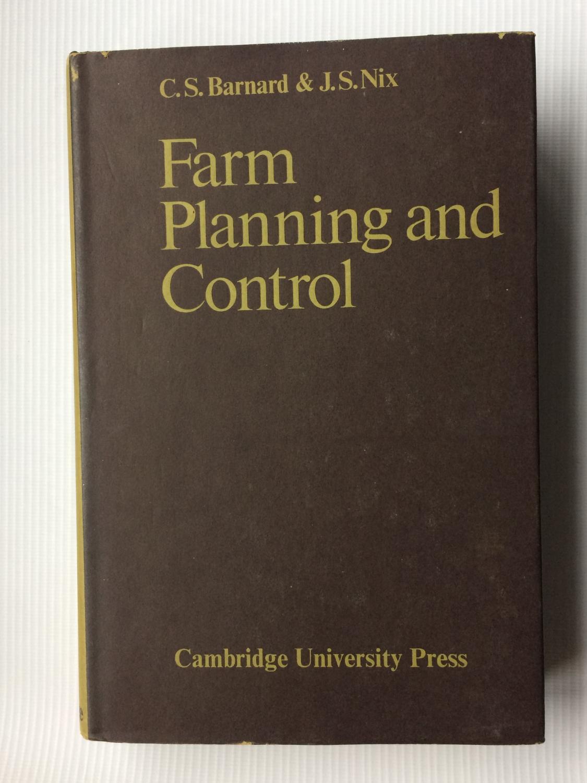 farm planning and control barnard c s nix j s
