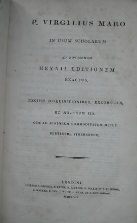P.Virgilius Maro in Usum Scholarum Ad Novissimam Heynii Editionem Exactus: Virgil