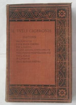 Orationes: Pro Quinctio; Pro Q.Riscio Comoedo; Pro: Cicero (M.Tulli Ciceronis);