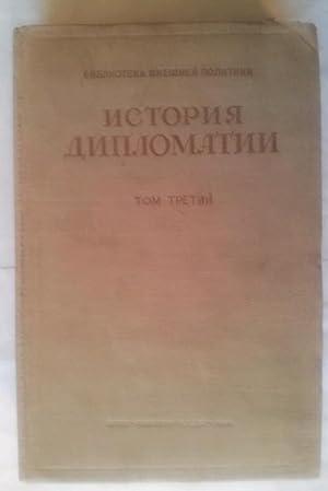 Istoria Diplomatii Tom Tretii 1919-1939 (Russian Language): Potemkina, V.P.
