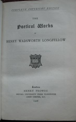 The Poetical Works of Henry Wadsworth Longfellow (Royal Gift): Longfellow, Henry Wadsworth