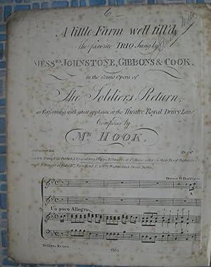 A Little Farm Well Till'd: Antiquarian Sheet Music: Hook, J.