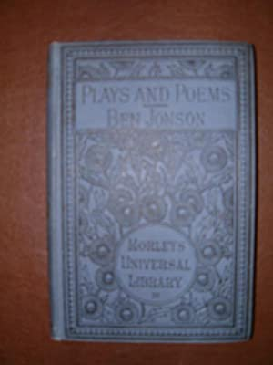 Plays and Poems: Jonson, Ben